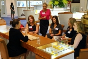 Guests at the NT Paspaley event learing all about pearls