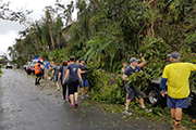 Kyani conference delegates on Hamilton Island during Cyclone Debbie helped in the clean up during their stay